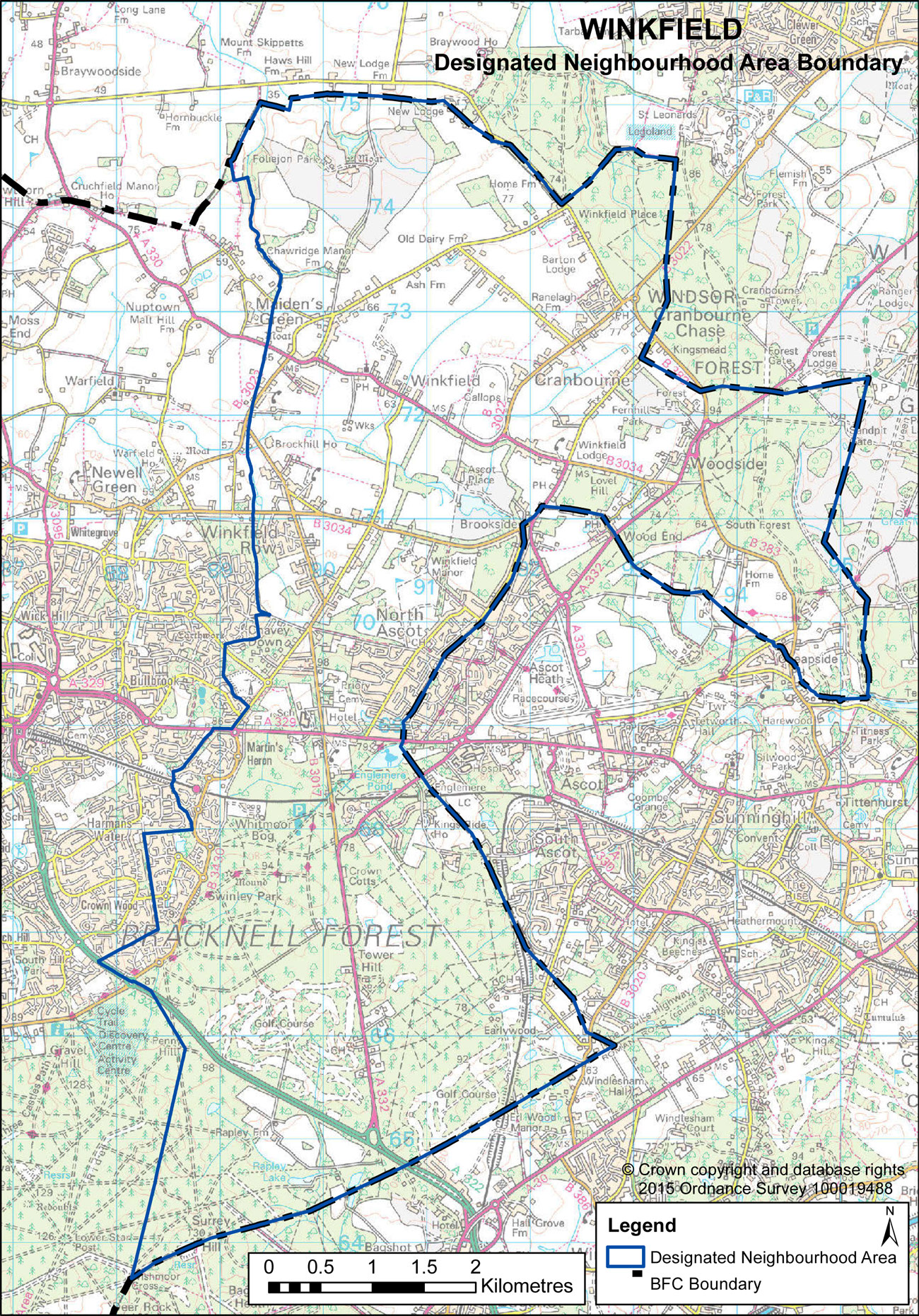 Winkfield Parish Council Areas